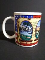 Mount Rushmore Coffee Cup Mug Red White Blue Black Hills Buffalo Herd