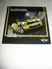 Mini Cooper & Cooper S Convertible range brochure Jan 2009 USA market