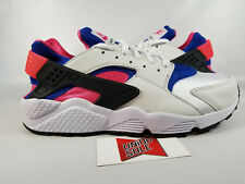 Nike Air Huarache Run 91 OG ORIGINAL WHITE ROYAL BLUE PINK AH8049-100 sz 8