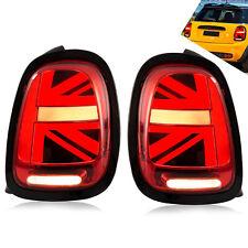 Custom Cooper Union Jack RED BLACK Taillights for 2014-2019 BMW Mini F55 F56 F57