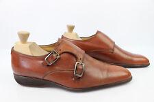 Zapatos oxford con hebillas Todo Piel Marrón UK 7,5 / BUEN ESTADO