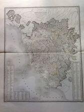 CARTE DU GRAND-DUCHÉ de TOSCANE domaine avant de romains 1840 ZUCCAGNI OBI