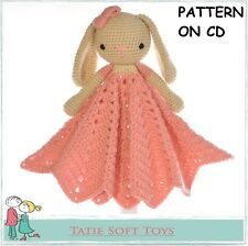 CROCHET PATTERN Bunny Lovey Security Blanket Comforter Snuggle Baby Blanket