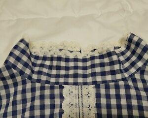 Vintage Long LS Handmade PRAIRIE PIONEER Old Fashioned Historical Costume Dress