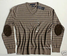 TOMMY HILFIGER  Herren Pullover Cotton Cashmere beige gestreift Gr. XXL  Neu