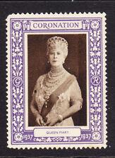"GB 1937 Coronation ""Purple""  Queen Mary -  Mint"