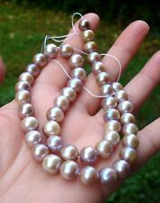 """16"""" A++ Iridescent Metallic luster Multi Color Freshwater Pearl  8.5-9.5 mm"""