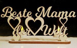 ⭐ Mit LED Beste MAMA Bester PAPA der Welt Geschenk Geburtstag Muttertag Vatertag