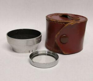 Vintage 1950s Actina 36mm Slip On Lens Hood & UV Filter with Case