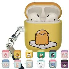 Sanrio Cute AirPods Case with Neck Lanyard Hard PC Shell Strap Hole Cover