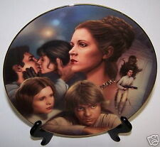 Star Wars Princess Leia Plate Heroes & Villains Figure Certificate of Authentic