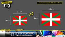Bandera Pais Vasco x3 pegatina ikurriña 01 sticker flag decal 3M 50 Series