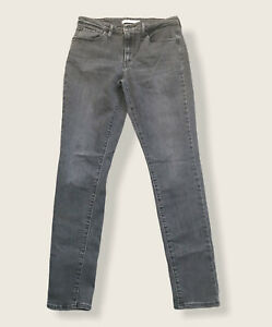 Levi's 721 High Rise Skinny Jeans Women's Size 29 ACTUAL = 28 x 27.5 Gray