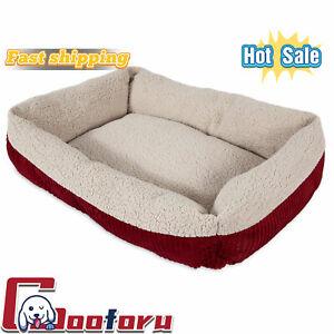 🐶Aspen🐶Pet Round Pet Cat Bed, Red
