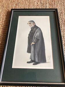 Vintage Vanity Fair Cartoon Caricature Print By Ape (Carlo Pellegrino) Old Man