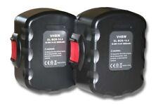 2x BATERIA 3000mAh negro / rojo para Bosch GSR 14.4, VE-2, GSR 14.4, VPE-2