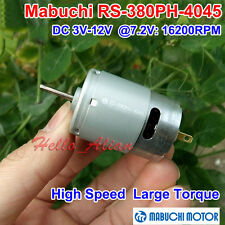MABUCHI RS-380PH DC3V-12V 6V 7.2V High Speed Large Torque Carbon Brush 380 Motor