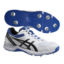 Asics Gel 100 Not Out White Blue Cricket Shoes Size UK 6 & 13