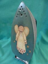 Vintage folk art painted angel on Steam-O-Matic Titeflex B-300 clothing iron