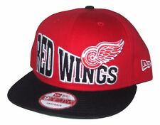 Detroit Red Wings New Era 9Fifty Flat Bill Snap Back Hat NWT