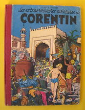 EXTRAORDINAIRES AVENTURES DE CORENTIN CUVELIER LOMBARD  2E EDIT 1953 BON ETAT