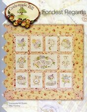 FONDEST REGARDS BOM EMBROIDERY PATTERN From Crabapple Hill Studio NEW
