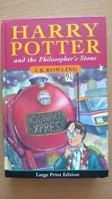 Large Print Edition Harry Potter & the Philosophers Stone 1st Edition 4th Run