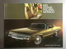 1972 Dodge Polara-Monaco Showroom Advertising Sales Folder / Brochure RARE