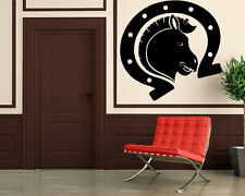Wall Stickers Vinyl Decal Horse Racing Tribal Animal Nature Horseshoes ig150