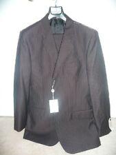NWT ANTONIO BALDAN 3 BUTTON Blk Pinstripe ITALIAN SUIT Sz 42 Long 100% Wool $999