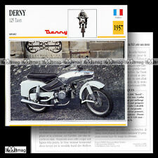 #031.09 DERNY 125 TAON 1957 Fiche Moto Motorcycle Card
