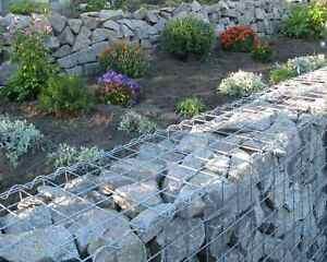 Bruchsteine Granit grau 10/25 sortiert Gabionensteine Granitbruch Berlin  A13