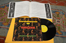 STOCKHAUSEN LP HARLEKIN ORIG GERMANY EX++ ! AVANT GARDE CONTEMPORARY ELECTRONIK