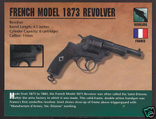 FRENCH MODEL 1873 REVOLVER 11mm France Atlas Classic Firearms Gun PHOTO CARD