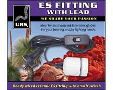 URS Ceramic ES Fitting with Lead and Switch - Reptile