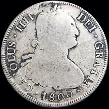 1800 PP Spanish Colonial Bolivia 8 Reales Potosi Mint KM #97 Plugged Hole