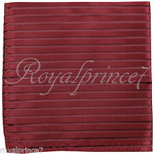 Handkerchief Pocket Square Hanky Wedding Red Red Stripes