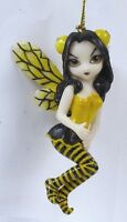 Jasmine Griffith Fantasy Magic Strangeling Cute Bumblebee Fairy Statue Ornament