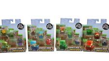 4 Minecraft Minecart 3-packs, 12 minifigs GOLEM CREEPER WOLF ZOMBIE PIGMAN NISP
