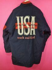 VTG 80'90's Nike USA Olympic Track & Field Navy Windbreaker Jacket Trench Coat M