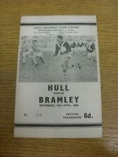 13/04/1968 Rugby League Programme: Hull v Batley (creased, torn at staple). Foot