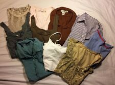 Pre Owned Lot Of 10 Women's Shirts And Tanks Size M