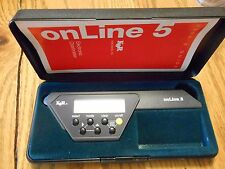 K&R Instruments Inc onLine 5 Chartmeter Great Condition Original Case and Manual