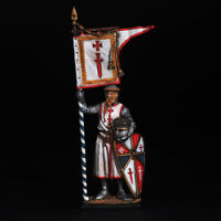 Tin Soldier, Knight of the Order of the Swordsmen, 1202-1237, Middle Ages, 54 mm