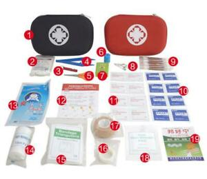 19 Item Portable First Aid Kits For Travel Home Outdoor Sports Medical Emergency