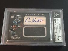 Cam Newton 2011 Topps Inception RC Auto/Jersey #23/75 ~BGS 8.5/10~ FREE SHIP