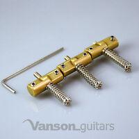 3 x VANSON Brass Compensated Saddles for Tele® Telecaster®* guitar bridge, CMP