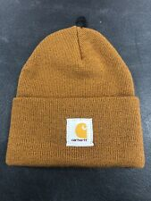 Carhartt Brown Men's Knitted Beanie Hat Cap Nwt