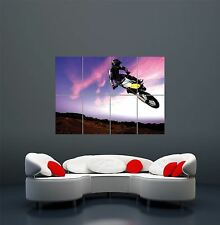 MOTOCROSS DIRT BIKE STUNT GIANT ART POSTER PRINT  WA405