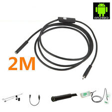 2Pc 2M HD USB Endoscope Borescope Inspection Wired Snake Scope Camera With 6 LED